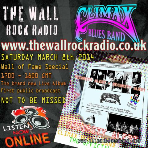 Wall of Rock Radio to broadcast Climax Blues Band's new album on March 8, 2014