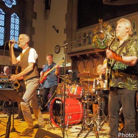 Climax Blues Band performing at the Lichfield Guildhall with Graham Dee on vocals and Lester Hunt on guitar.