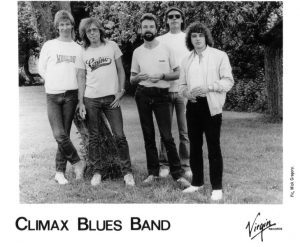 Publicity photo of Climax Blues Band in 1983