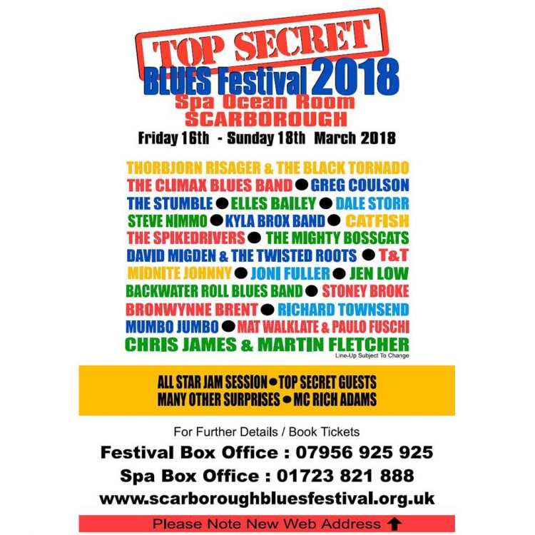 Poster for Scarborough top secret bles festival 2018