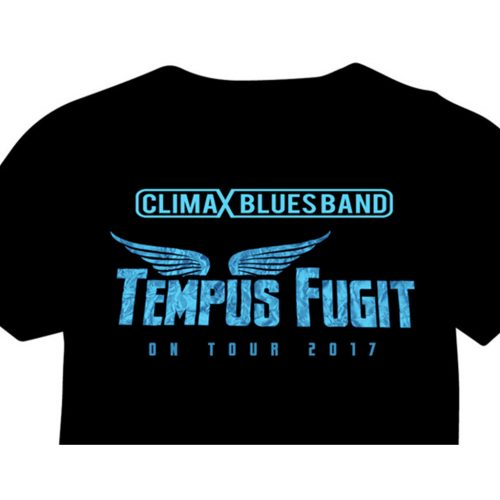Climax Blues Band black tour T-shirt with Tempus Fugit logo