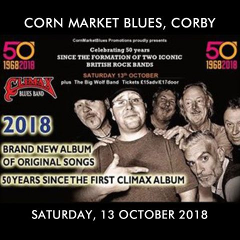 Climax Blues Band on 50th anniversary tour at Corn Market Blues on Saturday, October 13, 2018