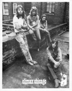 Publicity photo of Climax Chicago Blues Band from 1975