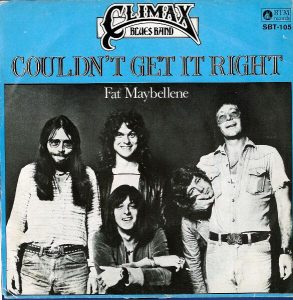 Climax Blues Band Couldn't Get It Right 45 rpm cover from 1976