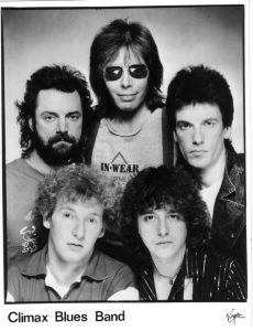 Publicity photo of Climax Blues Band in 1984