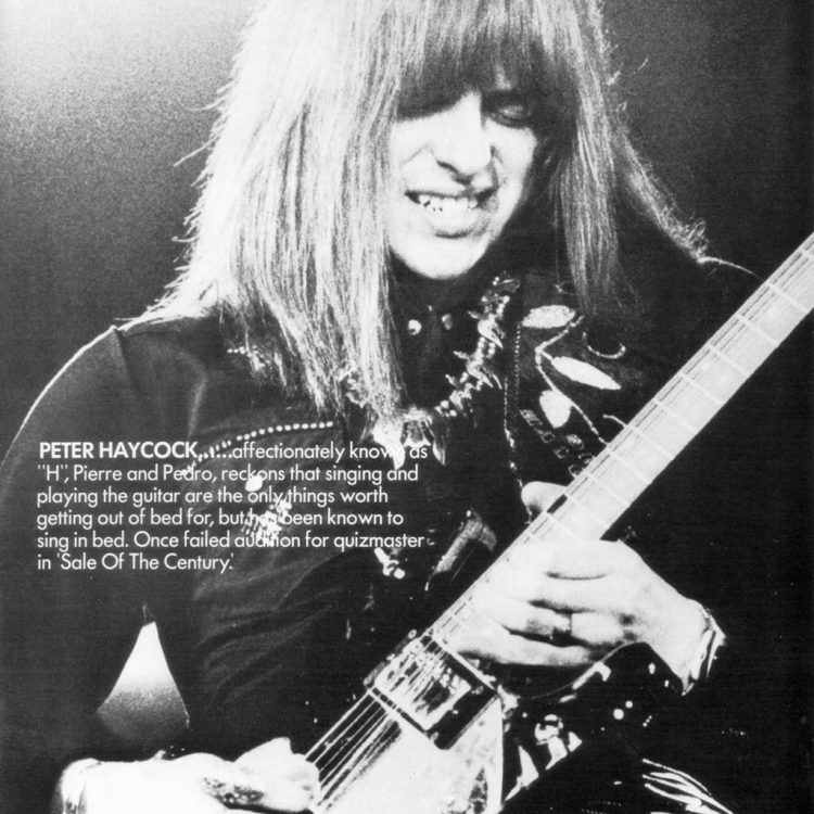 Old photo of Pete Haycock the original lead guitarist of Climax Blues Band