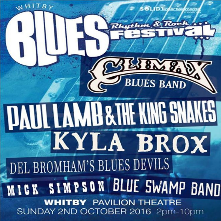 Poster for Whitby Blues Festival with Climax Blues Band October 2016
