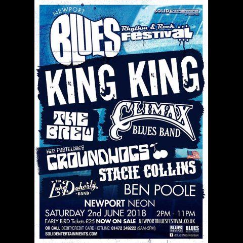 Newport Blues, Rhythm & Rock Festival Saturday, 2 June 2018 poster