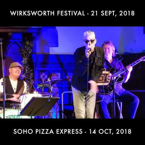 UK gigs live 2018 photo of Graham Dee on vocals, Roy Adams on drums and Lester Hunt on guitar.