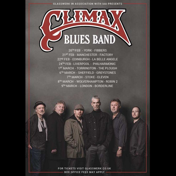 Glasswerk and IAA presents Climax Blues Band Spring 2019 UK tour