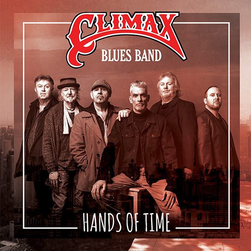 Front cover of Hands of Time album with all six band members of Cliamx Blues Band