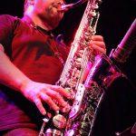 Chris Aldridge close up of sax