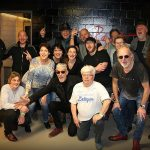 Climax Blues Band get together for a group shot with their fans on their 2019 European tour