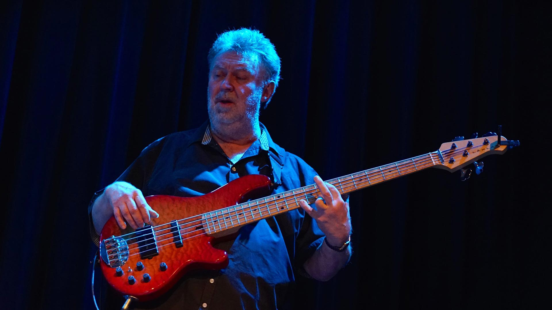 Neil Simpson plays Laklan 5-string bass guitar