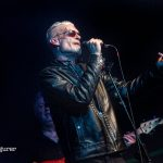 Graham Dee in leather jacket at HRH Blues Festival Sheffield UK 2019