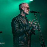 Green light on Graham Dee at HRH Blues Festival Sheffield UK 2019
