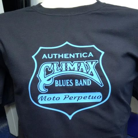 Climax Blues Band T-shirt black with imprint