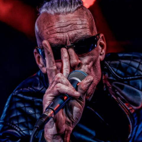 Graham Dee lead singer of Climax Blues Band at Skegness Rock and Blues Festival January 2020