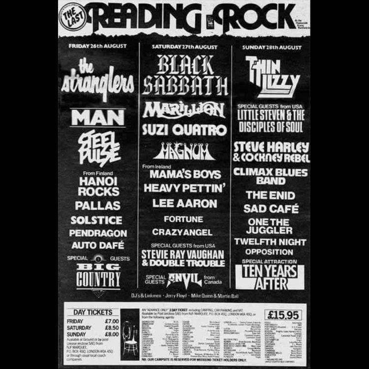 CBB at Reading Rock Festival 1983