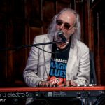 George Glover on keyboards with Climax Blues Band live at Lichfield Guildhall September 2021