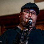 Chris Aldridge on sax with Climax Blues Band live at Lichfield Guild Hall September 2021