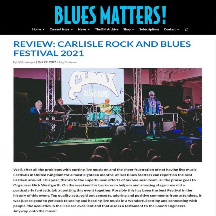 Blues Matters Review Carlisle Blues Festival October 2021