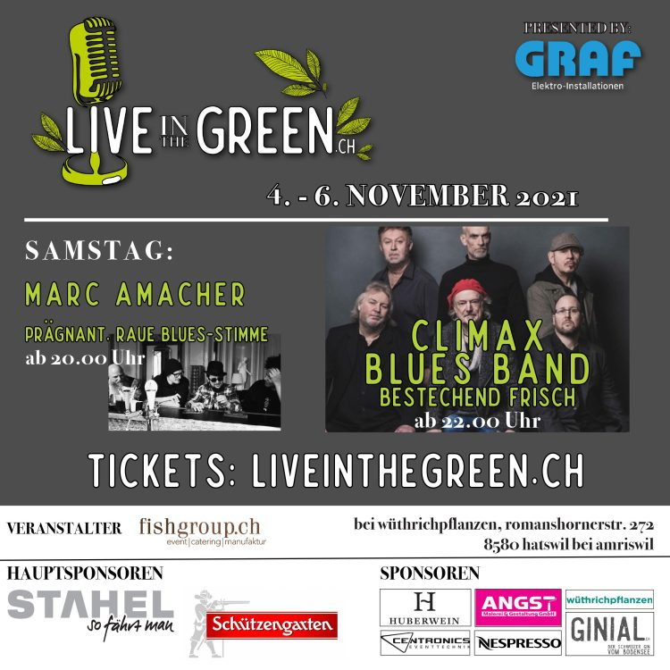 Climax Blues Band headline Live in the Green, Hatswil, Switzerland on November 6, 2021